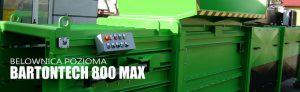 Belownica pozioma BARTONTECH 800 MAX